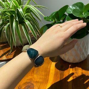 Sea Glass Blue Coloured Bracelet